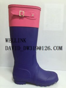 Fashion Style Colourful Rubber Rainboots Females pictures & photos