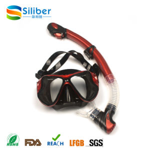 2017 PVC Bag for 100% Silicone Strap Diving Mask and Snorkel Set pictures & photos