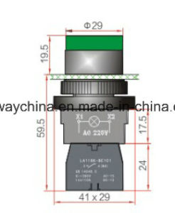Keyway Illuminated Push Button Switch with Ce/CB/CCC pictures & photos