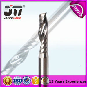 Tungsten Carbide Single Flute Right Spiral End Mill for Plastic pictures & photos
