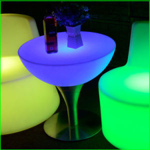 LED Furniture Factory Modern Outdoor Garden LED Bar Stools and Tables pictures & photos
