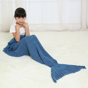 Handmade Crochet Mermaid Blanket Throw Bed Sofa Wrap Sleeping Bag pictures & photos