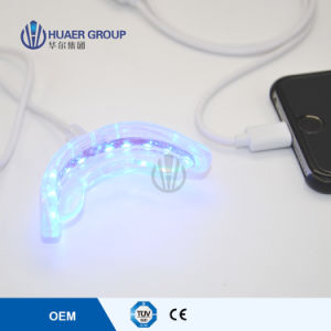 Mini LED Whitening Light with Soft Silicone Mouth Tray pictures & photos