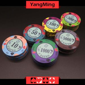 Custom Printed Design/ Poker Chips Casino Games (YMCP007-008) pictures & photos