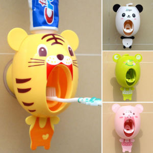 Holder Toothbrush Toothpaste Mount Wall Stand Dispenser 5 Automatic Set Vintage pictures & photos