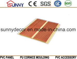Plastic Wooden Color PVC Wall Panel for House with Free Sample, Cielo Raso De PVC pictures & photos