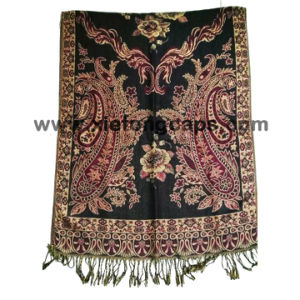 2017 Ladies Red Jacquard Flower Scarf pictures & photos