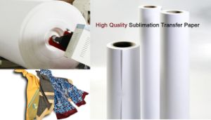 Trans-Jet Quality Fw75GSM 1.118m*100m Fast Dry Anti-Curled Sublimation Inkjet Paper for High Speed Inkjet Printer Ms Jp pictures & photos