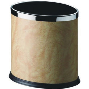 10L Hotel Waste Bin with Ivory Leather pictures & photos