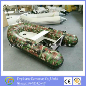 2.7m Hot Sale Ce Inflatable Camouflage Fishing Boat with Canopy pictures & photos