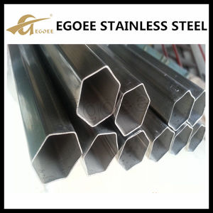 Ss 201 Ss 304 Ss 316 Wholesale Hexagonal Stainless Steel Welded Tube pictures & photos
