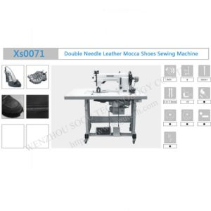 Automatic Double Needle Mocca Leather Industrial Shoe Sewing Machine pictures & photos