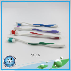 White Handle+Color Rubber Nylon 612 Adult Toothbrushes pictures & photos
