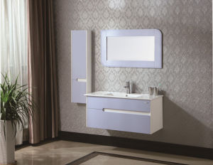Ceramic Countertop Solid Wood Bathroom Cabinet