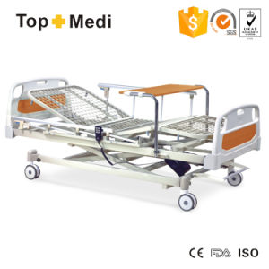 Topmedi Economical Three-Function Electric Power Hospital Bed with Foot-Table for Option pictures & photos