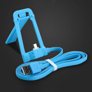 Multifunction Data Charger 1.2m Noodle Flat Micro Cable with Dock Holder Function for Samsung Andorid Mobile Cell Phone pictures & photos