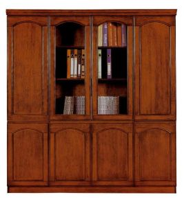 MDF Veneer Glossy Wood Cupboard Office Bookcase Filing Cabinet (NS-SL166) pictures & photos