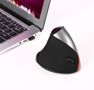 2.4G Wireless Gaming Ergonomic Design Optical Vertical 2400dpi Mouse pictures & photos