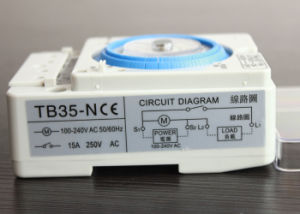 Tb-35 / Tb35-N AC110V-220V 10A Mechanical Timer Manual /Auto Control Timing Range 24h Time Switch with Battery pictures & photos