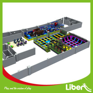 High Quality Large Indoor Amusement Trampoline Park with Soft Play Area pictures & photos