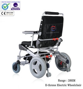 """12"""" Folded Electric Wheelchair for Handicapped, Brushless and Long Life pictures & photos"""
