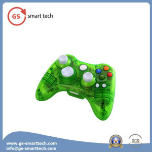 Double Vibration Wireless Transparent Flash Game Controller for xBox 360 pictures & photos