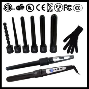 Ceramic Clipless Interchangeable Curling Wands (A125) pictures & photos