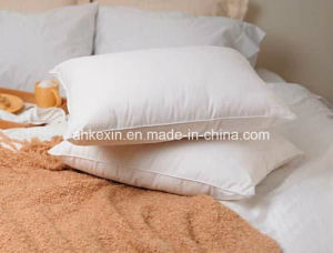 6cm White Duck Feather Filling Bed Pillow pictures & photos