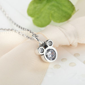 New Arrival Disney Miky Mouse Dazzling CZ Stone 925 Sterling Silver Pendant Necklaces pictures & photos
