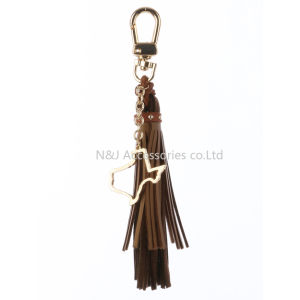 State of Texas Charm Faux Leather Tassel Key Chain Ornament Gift pictures & photos