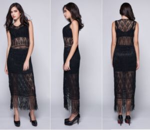 Sexy Ice Silk Hand Crochet Dress Beachwear Party Evening Dresses pictures & photos