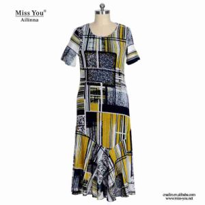 Miss You Ailinna 802065 Women Print Cotton Dress Distributor pictures & photos