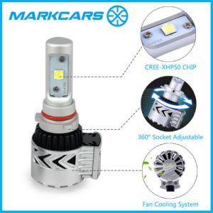 Markcars 6500k 12000lm T8 Auto LED Headlight with Fan Cooling pictures & photos