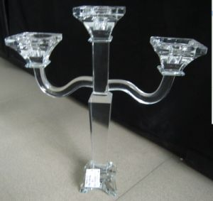 Crystal Candle Holder with Three Poster for Wedding Decoration pictures & photos