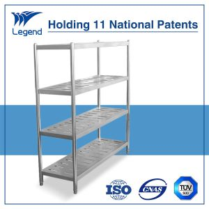 Hot Selling Stainless Steel Storage Shelving Unit with Punched Hole pictures & photos