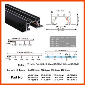 Ce Recessed Track Rail for Commercial LED Lighting (XR-RL310) pictures & photos