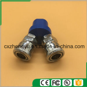 Pneumatic Quick Coupler/Connector/Fittings with 2 Pass (SMV) pictures & photos