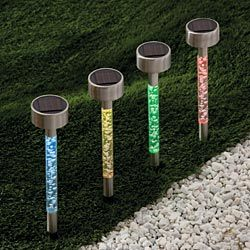 Solar Tube Lights Solar Acrylic Bubble Pathway Decoration Garden Stick Stake Light Set pictures & photos