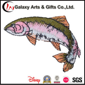 Custom Animal Polyester Flat Custom Embroidery Patch Fish for Clothing pictures & photos