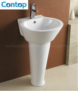 Bathroom Ceramic Pedestal Wash Basin pictures & photos