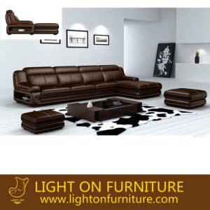 European Classical Leather Sofas (L065) pictures & photos