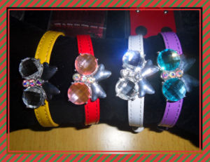 Puppy Dog Collar with Bling Rhinestone Heart and Doggie Charms pictures & photos