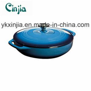 Colour Enamel Casserole Blue Cookware Set with Lid-Xjt33 pictures & photos