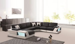 Divany Most Popular Stainless Steel Leg Leather Living Room Sofa pictures & photos