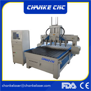 Ck1325 6 Heads 4.5kw Aliuminium Wood MDF Cutting CNC Machine pictures & photos