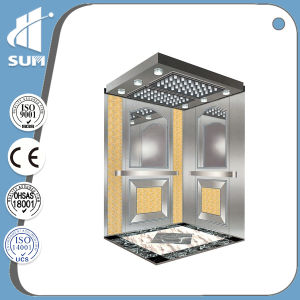 Ce Approved Speed 1.75m/S Mirror Etching Ss Elevators pictures & photos