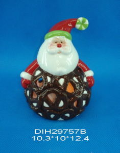 Hand-Painted Ceramic Santa Tealight Holder pictures & photos