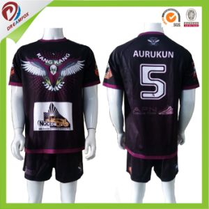 Top Quality Wholesale Womens Professional Black Rugby Shirt/Rugby Jerseys pictures & photos