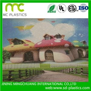 Straw Embossing PVC Wallpaper for Printing Usage pictures & photos