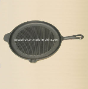 Vegetal Oil Coating Cast Iron Frypan Dia 15cm 16cm 20cm pictures & photos